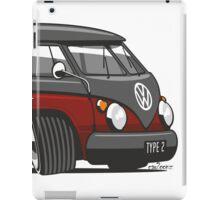 VW T1 Microbus cartoon black/red iPad Case/Skin