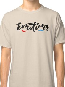 Emotions - Hand Lettering Design Classic T-Shirt