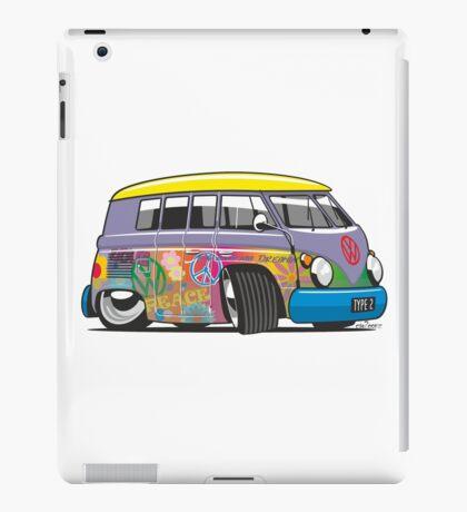 VW split-screen magic bus cartoon iPad Case/Skin