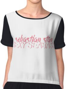 SEXY SEABASS (SEBASTIAN STAN) Chiffon Top
