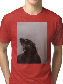 Black and white drawing, Labrador Retriever Tri-blend T-Shirt