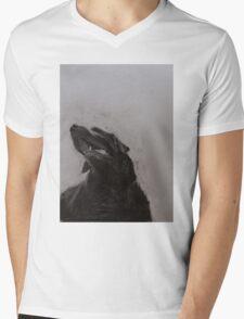 Black and white drawing, Labrador Retriever Mens V-Neck T-Shirt