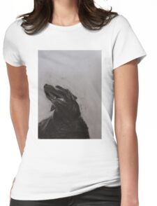Black and white drawing, Labrador Retriever Womens Fitted T-Shirt