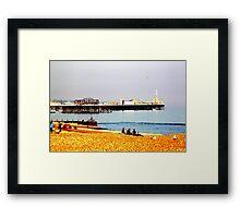 2 piers Framed Print