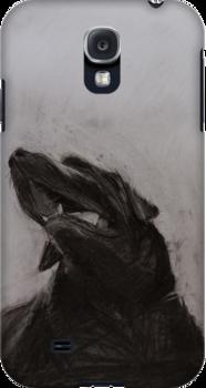 Black and white drawing, Labrador Retriever by melanieroy