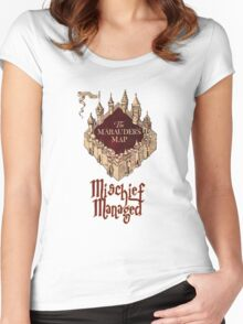 Marauders' Map Women's Fitted Scoop T-Shirt