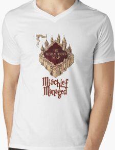 Marauders' Map Mens V-Neck T-Shirt
