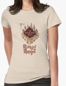 Marauders' Map Womens Fitted T-Shirt