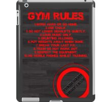 Gym rules iPad Case/Skin