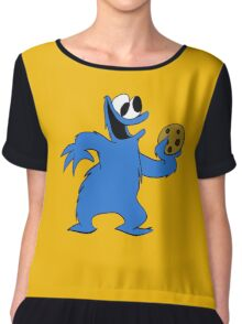 Cookie Monster with cookie Chiffon Top