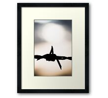 Down to the Wire - Abstract Framed Print