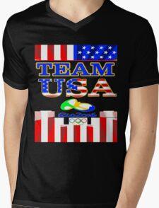 Team USA Rio 2016 Olympics Mens V-Neck T-Shirt