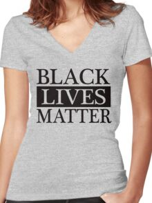 Black Lives Matter (Black) Women's Fitted V-Neck T-Shirt