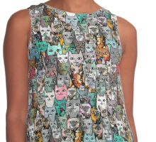 Find Me, I am the Cat. Contrast Tank