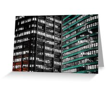 Office Buildings Greeting Card
