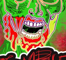 Funky Zombie Attack Sticker