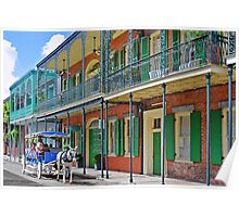 Carriage Ride New Orleans Poster