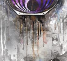 astronout bass head Sticker
