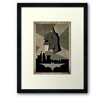 Batman Alternative Poster Framed Print