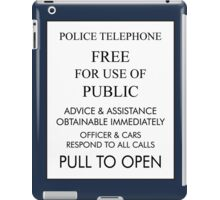 Tardis Sign/ Policebox Notice iPad Case/Skin