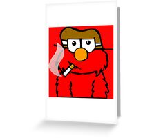 Elmo Smoking Greeting Card