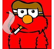 Elmo Smoking Photographic Print