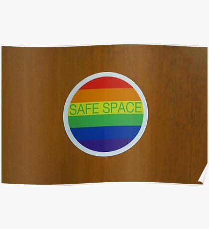 "LGBT ""Safe Space"" sticker  Poster"