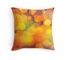 Colorful Bokeh Lights Art Throw Pillow