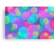 Colorful Purple Blue Tones Bokeh Lights Art Canvas Print