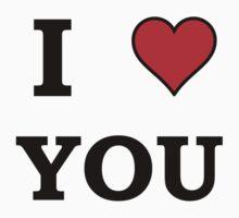 I Heart Love You One Piece - Short Sleeve
