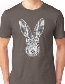 Hare Portrait Ink Drawing Unisex T-Shirt
