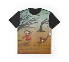 The Trees Are Dancing (Fox and Girl) Graphic T-Shirt