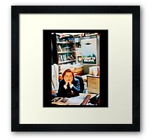 DANA SCULLY x files - I Want To Believe Framed Print