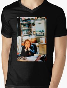 DANA SCULLY x files - I Want To Believe Mens V-Neck T-Shirt
