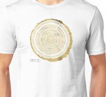 Douglas Fir – Gold Tree Rings Unisex T-Shirt