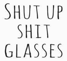 Levi Shit Glasses Black Text by hellarad
