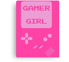 Pink Gamer Girl T Shirt Canvas Print