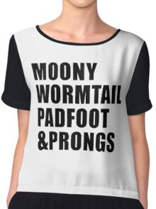 Moony, Wormtail, Padfoot & Prongs Chiffon Top