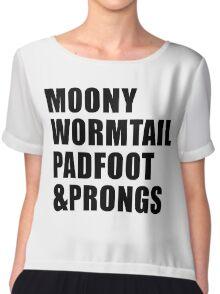 Moony, Wormtail, Padfoot & Prongs Chiffon Top