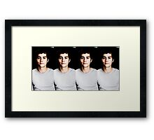 Seeing Double Dylan Framed Print