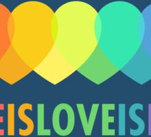 Love Is Love Is Love (Blue) Sticker