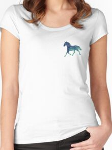 Blue Horse Spirit Animal  Women's Fitted Scoop T-Shirt