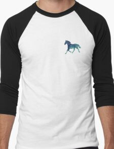 Blue Horse Spirit Animal  Men's Baseball ¾ T-Shirt