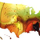 United States of America Map 5 - Colorful USA by Sharon Cummings