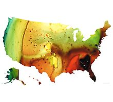 United States of America Map 5 - Colorful USA Photographic Print