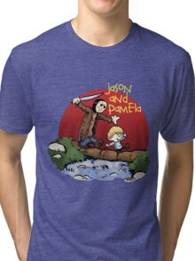 calvin and hobbes meets jason Tri-blend T-Shirt