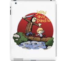 calvin and hobbes meets jason iPad Case/Skin