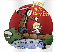 calvin and hobbes meets jason Poster