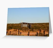 Dunny at Little Lagoon via Denham, Western Australia Greeting Card