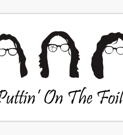 Hanson Brother's Puttin On The Foil Sticker